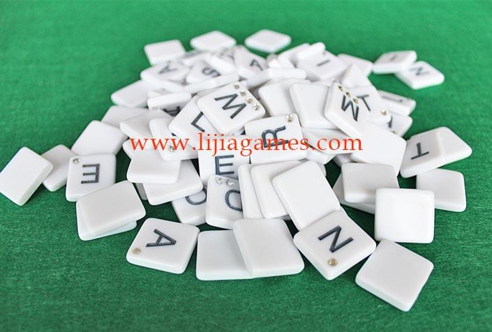 bling plastic letter tiles