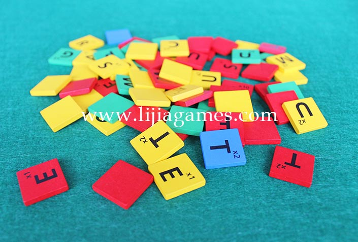 Picture of wooden tiles pieces