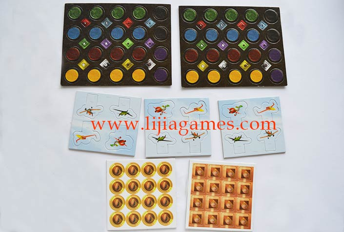 Picture of punched paper game tokens