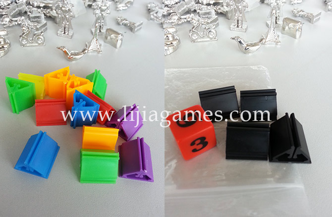 Plastic card stands