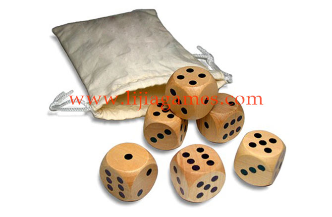 Picture of custom wooden dice