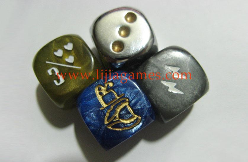 Picture of Custom granite color dice