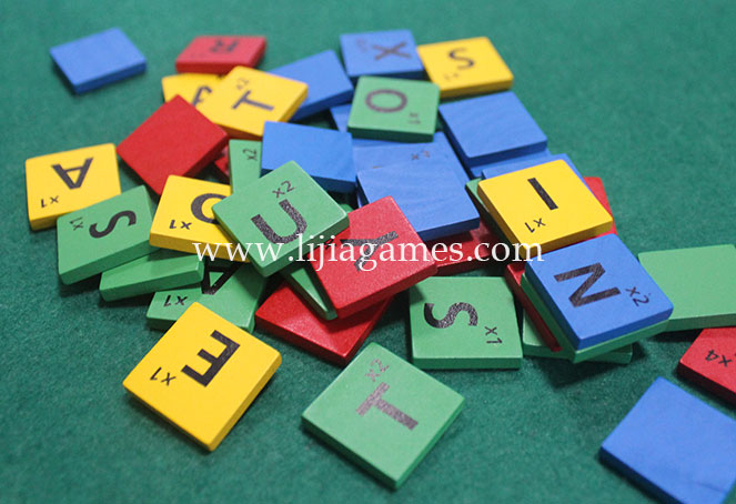 Picture of custom color wooden letter tiles