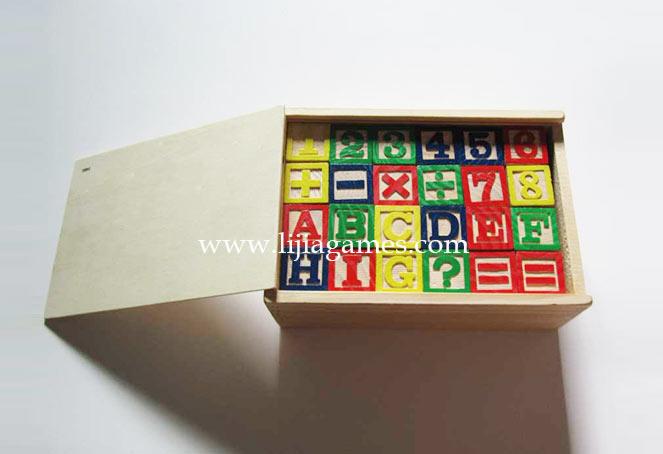 wooden alphabet block set