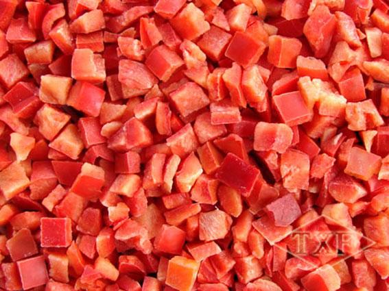 冷冻红椒丁