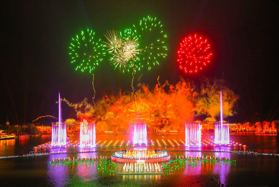 汉中《天汉传奇》大型水上实景音乐喷泉