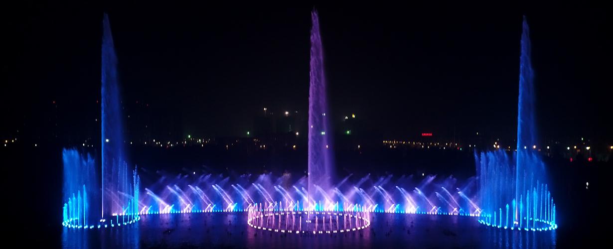 亳州市南湖公园音乐喷泉