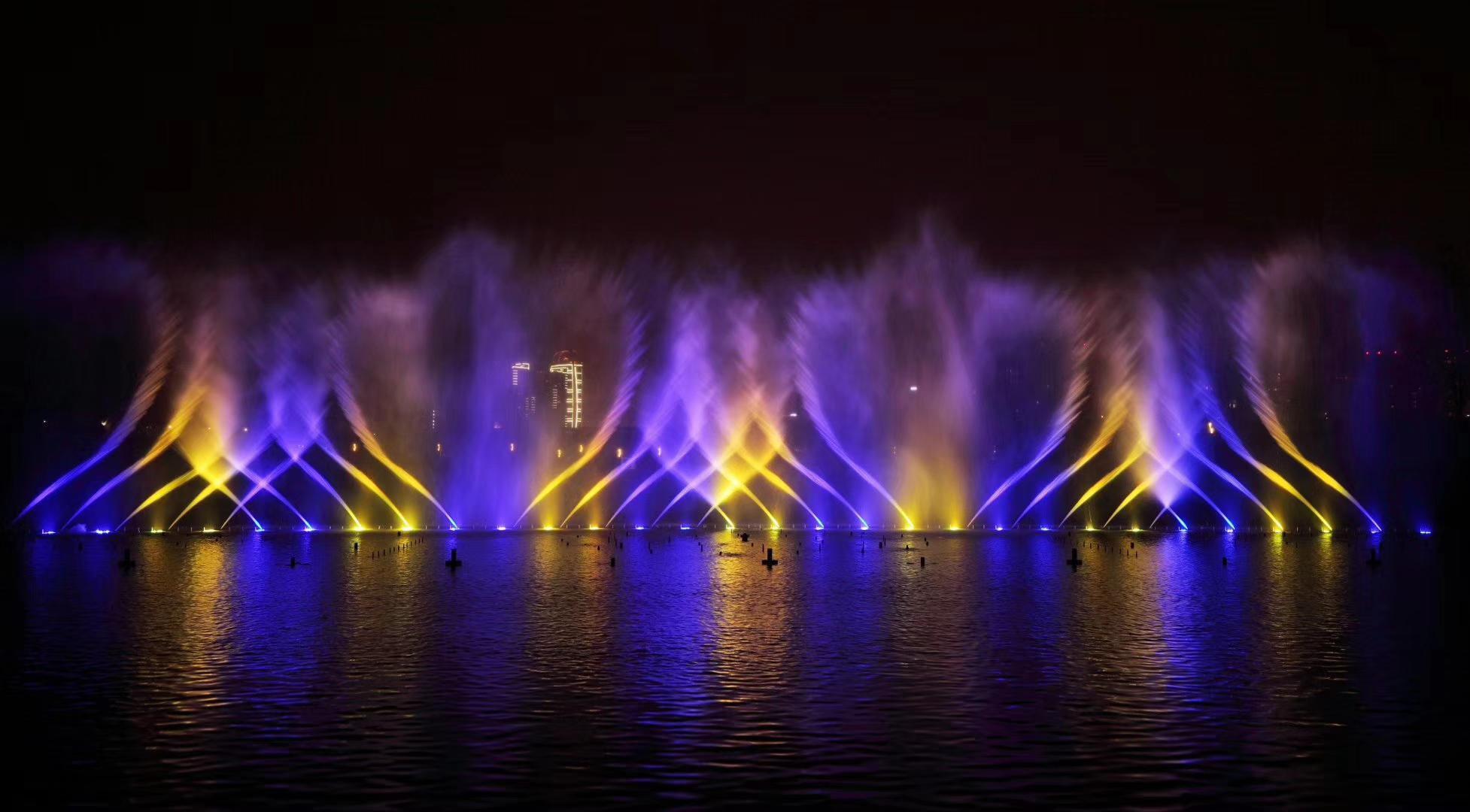 德阳柳梢堰湿地公园音乐喷泉