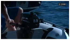 PARSUN 2.5hp outboard motors running on the river