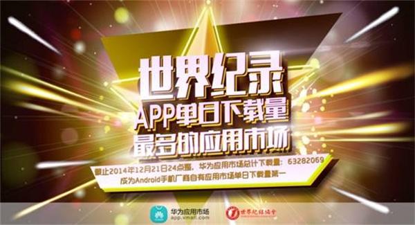 中国:世界上安卓手机厂商自有应用市场单日下载量最多——华为应用市场