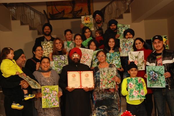印度:世界上展出最多花朵油画的展览——BALJIT SINGH  CHADHA油画展览