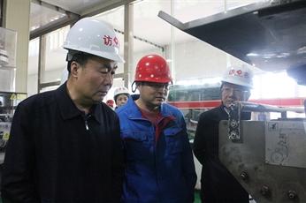 中盐总公司总经理丁召团一行到公司调研