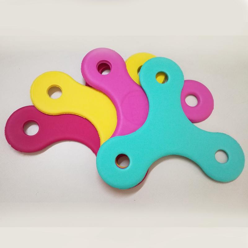custom logo eva foam fidget spinner shape flying disc