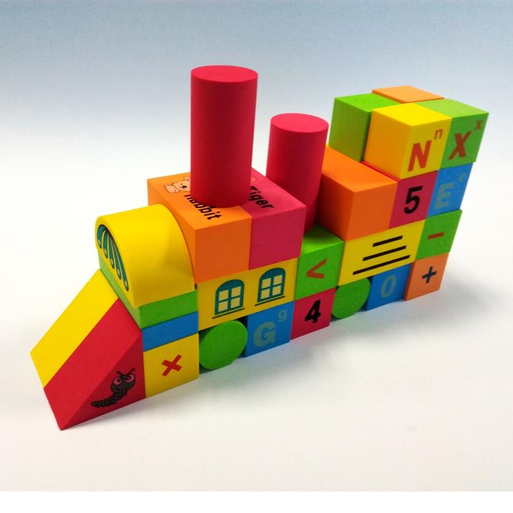 Educational custom pattern eva foam building blocks
