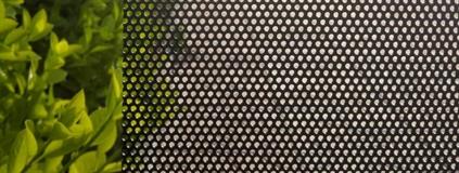 perforated aluminum security mesh