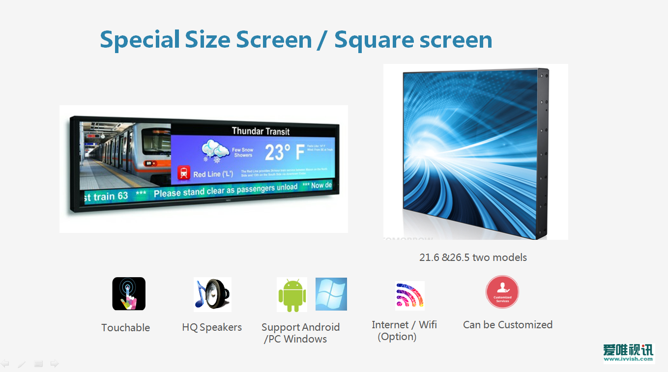 Ultra wide stretched   Bar Type LCD Panels
