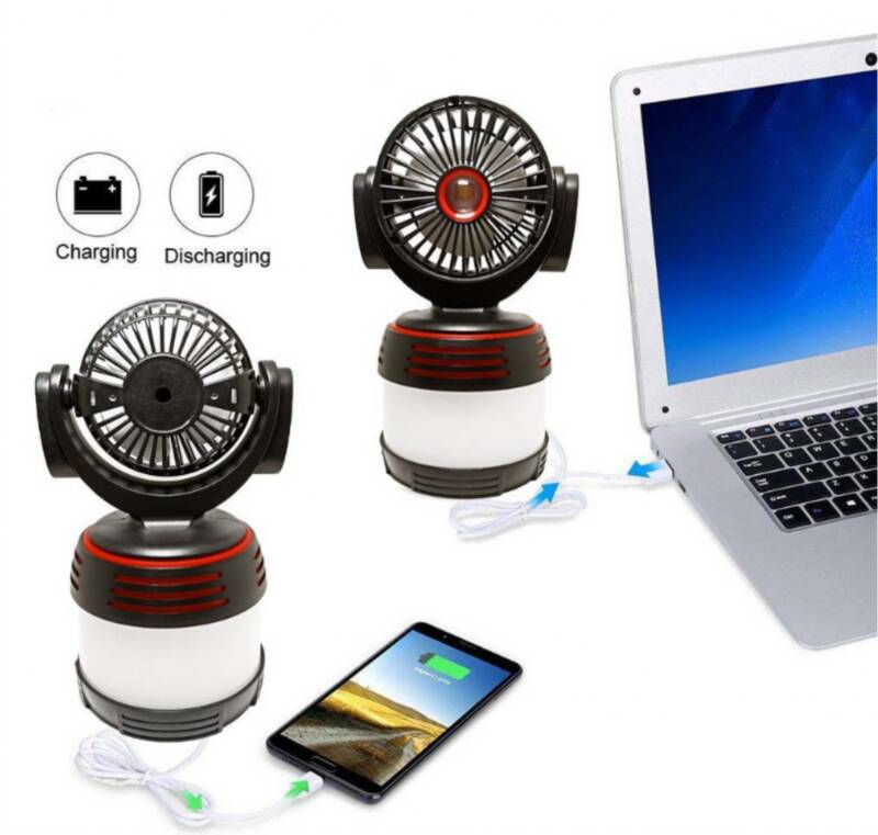 EB-TY518 Fan, LED light and power bank 3in1