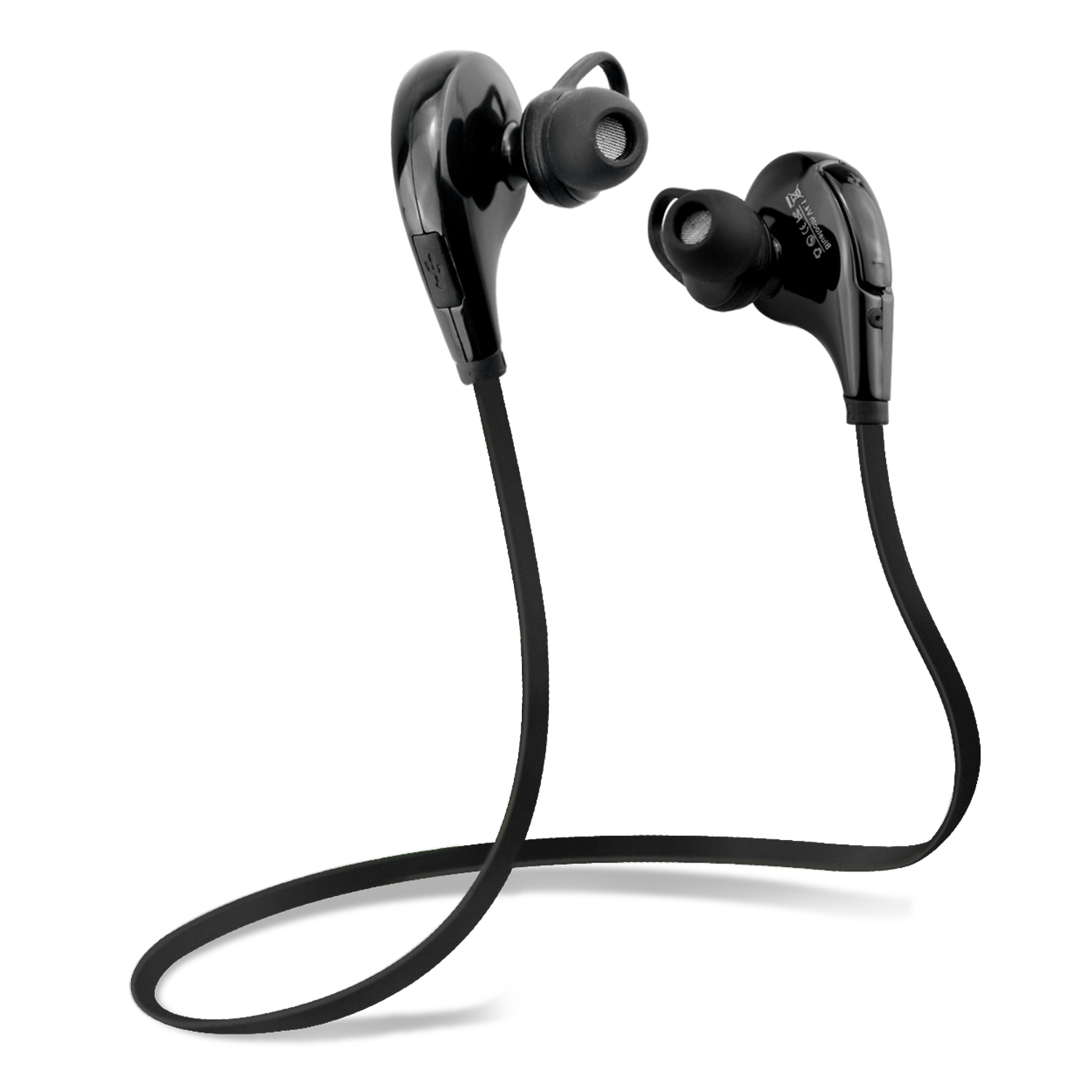 Kinlan BE1002 Bluetooth 4.1 Wireless Sports Headphones Noise Cancelling Sweatproof In-ear Stereo Earbuds Earphones with Microphone for iPhone iPad iPod and Android Devices